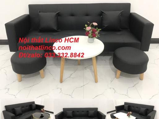 Sofa màu đen | ghế sofa màu đen | sofa vải simili màu đen giá rẻ Nội thất Linco HCM Tphcm Bình Dương