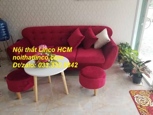 Ghế sofa màu đỏ | Sofa màu đỏ tươi | Sofa màu đỏ đô, đỏ đậm phòng khách giá rẻ Nội thất Linco Tphcm