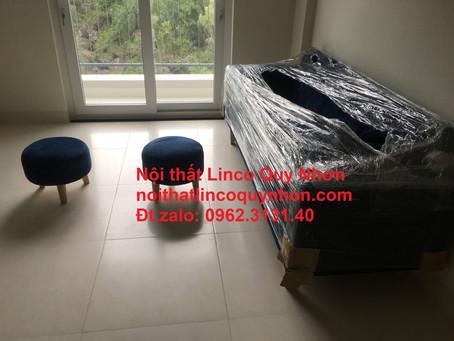 Bộ ghế sofa bed, sofa giường đa năng giá rẻ Nội thất Linco tại chung cư lamer, Quy Nhơn