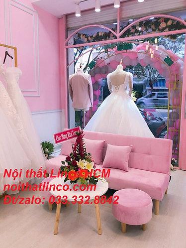 Ghế sofa màu hồng phấn | Sofa màu hường nhẹ nhạt giá rẻ GTT06 Nội thất Linco HCM