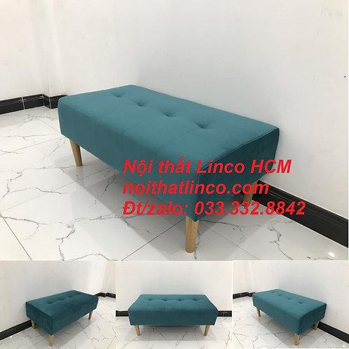 Ghế đôn sofa mini dài 1m vải nhung giá rẻ Nội thất Linco HCM