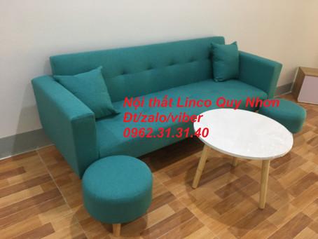 Bộ ghế sofa bed, sofa bật thành giường nằm tay vịn Nội thất Linco tại Sông Cầu, Phú Yên