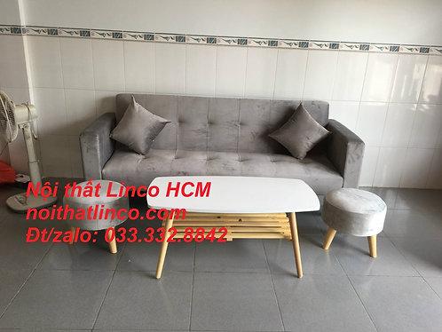 Sofa màu xám | Sofa xám lông chuột | Sofa xám tro | Sofa xám ghi trắng Linco HCM