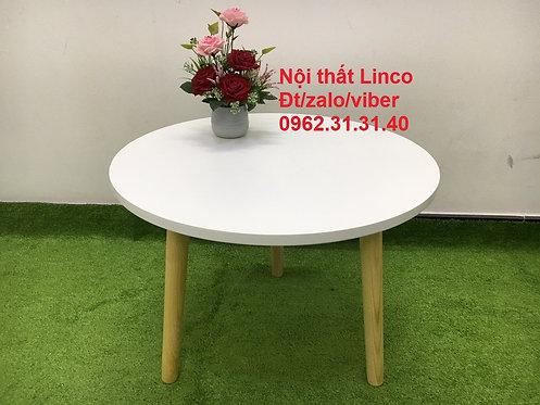 Bàn trà sofa BTS01, bàn tròn 3 chân