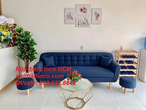 Sofa 2m2 | Sofa băng dài 2m2 | Sofa màu xanh dương đậm giá rẻ Nội thất Linco HCM