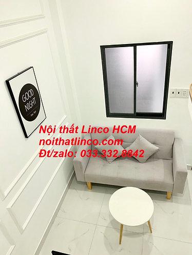 Ghế sofa băng 1m5, sofa giường nhỏ màu xám trắng, ghi trắng | Nội thất Linco HCM