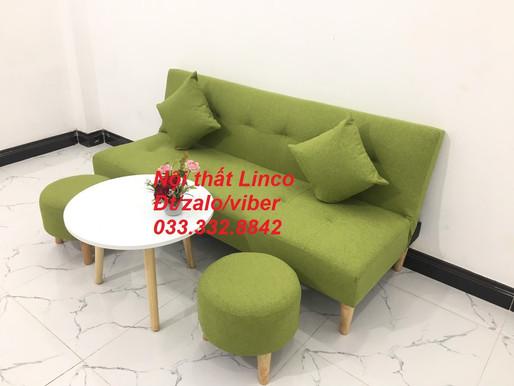 Ghế sofa màu xanh lá, xanh lá cây | sofa màu xanh rêu | Sofa màu xanh cổ vịt vải Nội thất Linco HCM