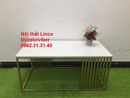 Bàn trà sofa BTS09 chữ nhật mặt đá Nội thất Linco Quy Nhơn Bình Định