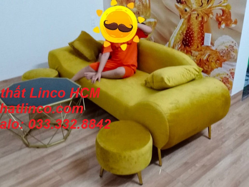Ghế sofa màu vàng | sofa màu vàng tươi | sofa màu vàng đồng | sofa vàng nhạt đậm Nội thất Linco HCM