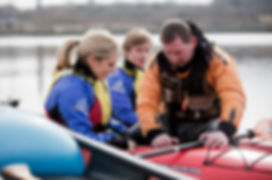Learning to kayak with Inish Adventures