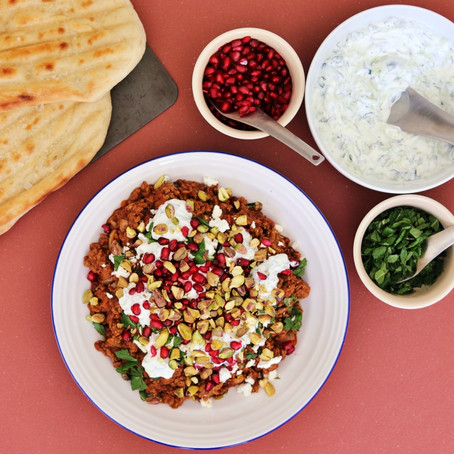 Spiced Lamb with Flatbread