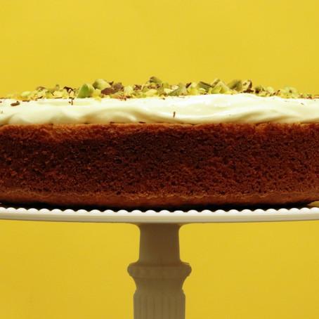 Orange, Almond, & Rose Cream Cake