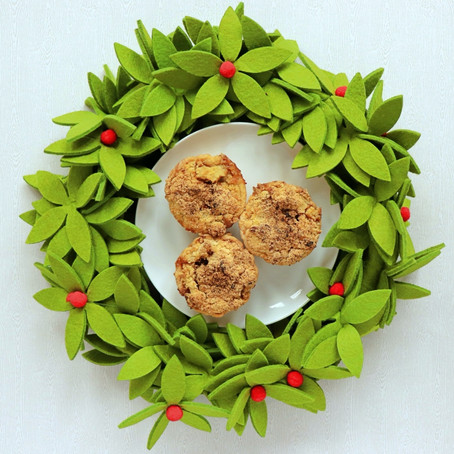 Puff Pastry Mince Pies With A Custard & Crumble Top
