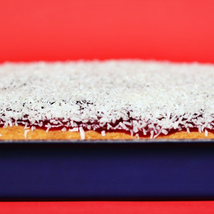 Old School Coconut and Jam Sponge Cake