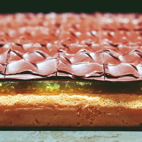 Jaffa Cake Tray Bake