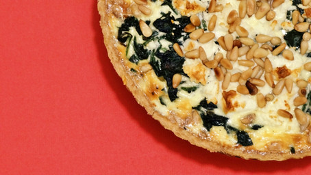 Toasted Pine Nut, Spinach, & Feta Quiche