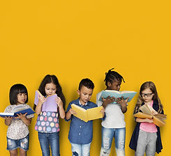 Diverse Group Of Kids Study Read Book.jp
