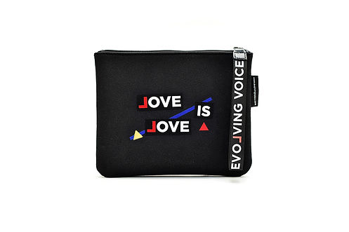 Love is Love Tell All Pouch Velcro Customize Bag
