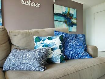 Beautiful cushions from local Stradbroke designers- Starfish