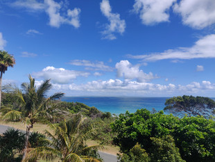 View from deck looking out to Moreton Island