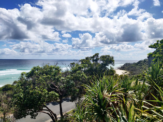 View from the deck of Deadmans Beach