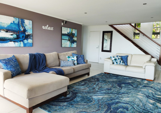 Downstairs lounge room with smart TV and Netflix
