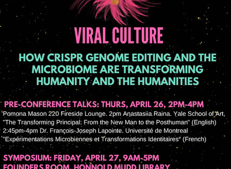 "Join me at Pomona College in Claremont, CA where I am giving the keynote, ""CRISPR ART NOW: CRIS"