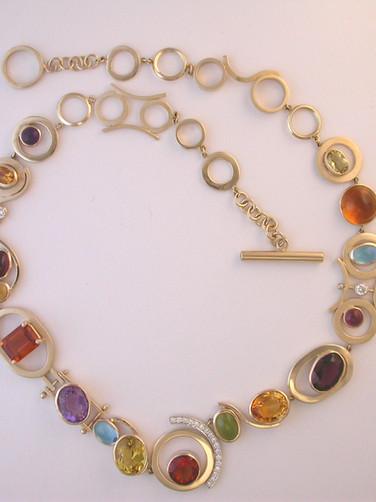 Multi-Gem Stone Necklace