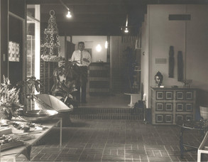 Bill's Dad in His Gallery--1965