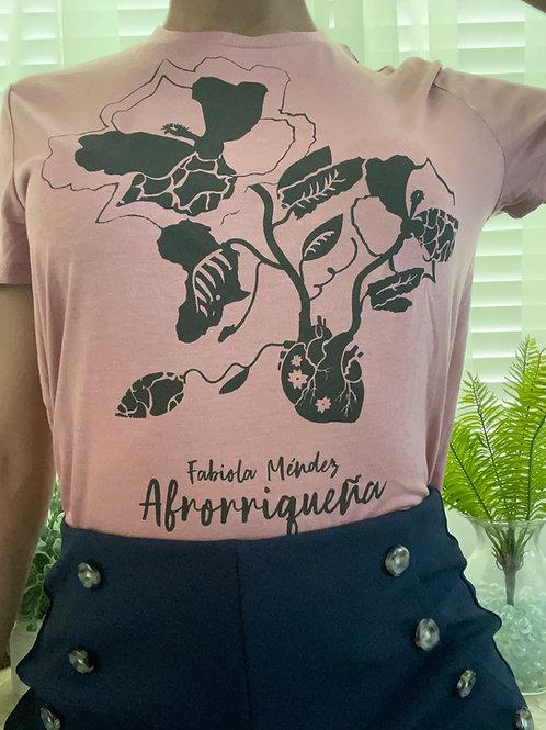 Afrorriqueña crop top shirt (pink)