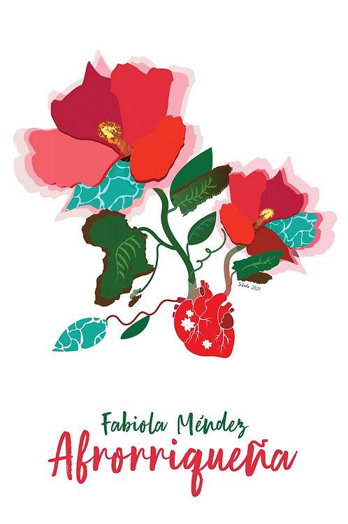 Afrorriqueña artwork card