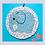 Thumbnail: Baby Blue Round Elephant Mosaic Kit