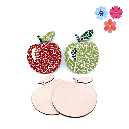 Red and Green Apple Coaster Mosaic Kit