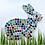 Thumbnail: Multi Coloured Rainbow Bunny Mosaic Kit