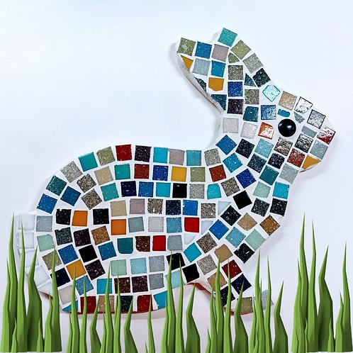 Multi Coloured Rainbow Bunny Mosaic Kit