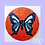 Thumbnail: Blue and Deep Orange & Red Butterfly Mosaic Kit