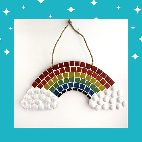 Multi-Coloured Rainbow Mosaic Kit