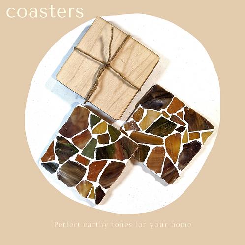 Coaster Kit - Seaglass Earthy Tones