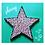 Thumbnail: Pink and Black Iridescent Dots Hanging Star Mosaic Kit