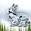 Thumbnail: Bunny Rabbit Mosaic Kit - Grey and White Sea Glass
