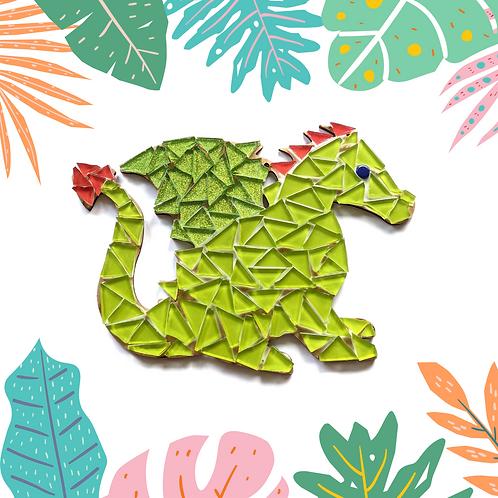 Sparkling Green Dragon Mosaic Kit