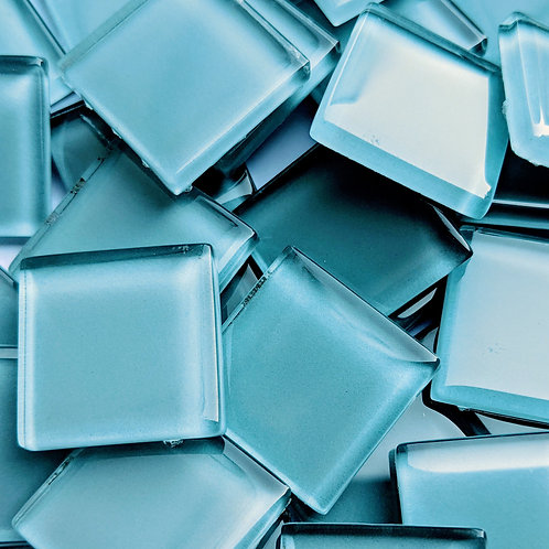 Mosaic Tiles - Light Blue High Sheen Glass - 23mm