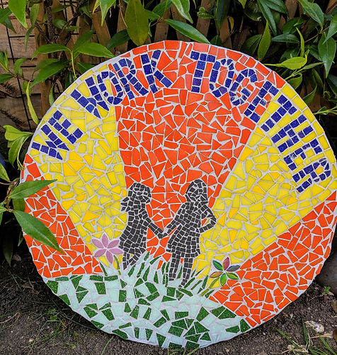 We work together school mosaic