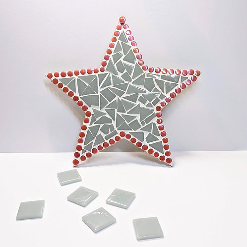 Grey and Pink Hanging Star Mosaic Kit