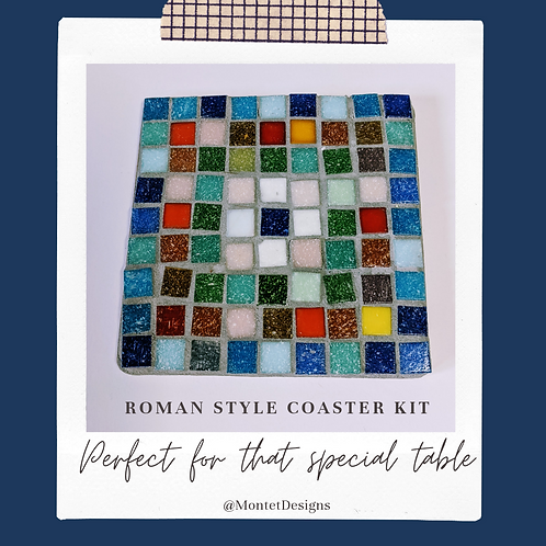 Roman Style 4 Coaster Pack Mosaic Kit