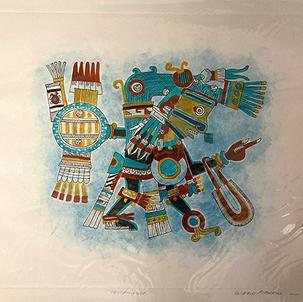 Tezcatlipoca Color by Hand