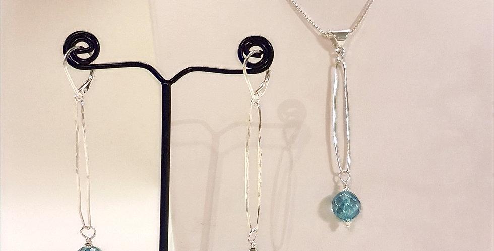 Aqua Aura Quartz Jewelry