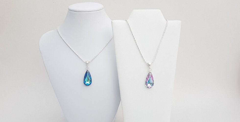 Teardrop Necklace, Swarovski Crystal
