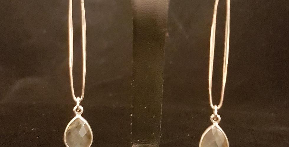 Fabulous Labradorite and Sterling Earrings