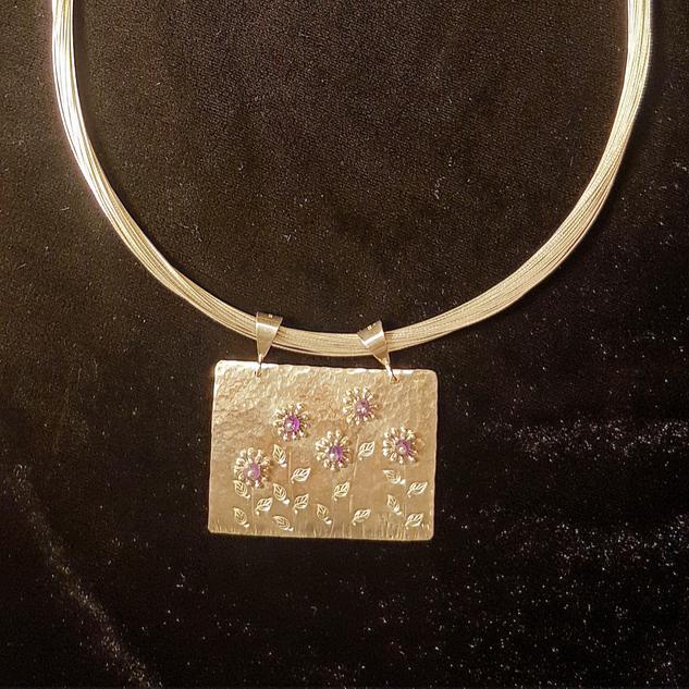 Flower Garden Necklace with Amethyst